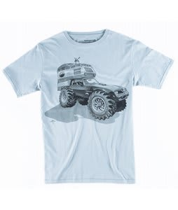 Spacecraft Camper Cat T-Shirt Grey