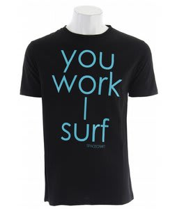 Spacecraft You Work I Surf T-Shirt Black