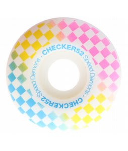 Speed Demons Check Fades Skateboard Wheels White/Hipster 52mm