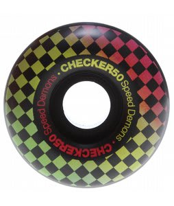Speed Demons Check Fades Skateboard Wheels Black/Rasta 50mm