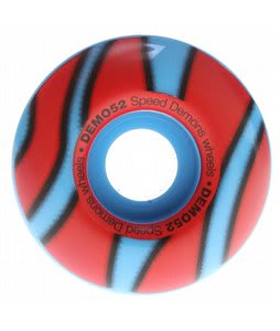 Speed Demons Demo Skateboard Wheels Blue/Red 52mm