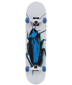Speed Demons Fresh Roach Skateboard Complete White/Blue 7.5