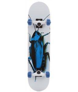 Speed Demons Fresh Roach Skateboard Complete White/Blue 7.5