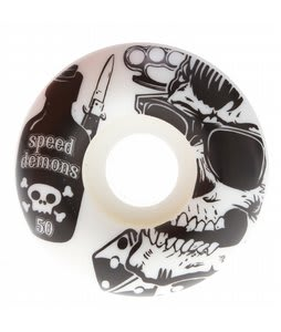 Speed Demons Greaser Skateboard Wheels White/Black 50mm