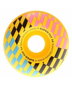 Speed Demons Super Fly Checks Skateboard Wheels Yellow 54mm