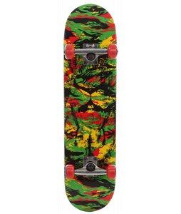 Speed Demons Rasta Camo Skateboard Complete Rasta 7.8