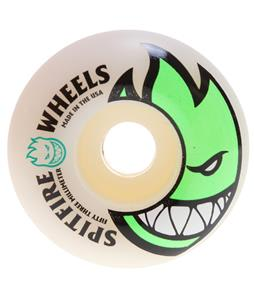 Spitfire Bighead Skateboard Wheels White/Green 53mm