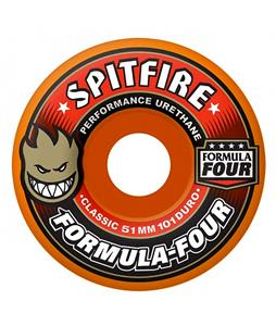 Spitfire Formula 4 Classic Skateboard Wheels Atomic Orange/Red 51mm