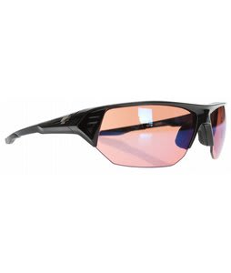 Spy Alpha Sunglasses Matte Black/Rose Contact Lens