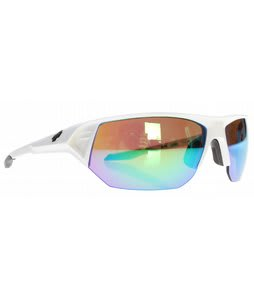 Spy Alpha Sunglasses White/Bronze/Green Spectra Lens