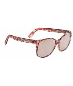 Spy Clarice Sunglasses Cherry Blossom Marble/Light Bronze Silver Mirror Lens