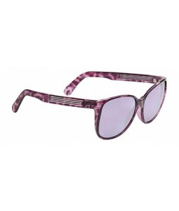 Spy Clarice Sunglasses Royal Purple Marble/Purple Silver Mirror Lens