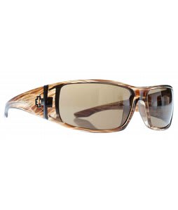 Spy Cooper XL Sunglasses Brown Stripe Tortoise/Bronze Lens