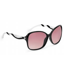 Spy Fiona Sunglasses Black Clear/Merlot Fade Lens