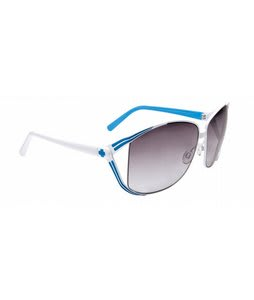 Spy Kaori Sunglasses White/Blue/Black Fade Lens