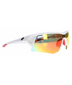Spy Screw Sunglasses Matte White/Bronze/Red Spectra Lens