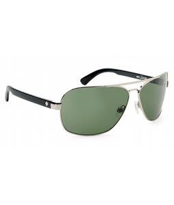 Spy Showtime Sunglasses Silver w/ Black/Grey Green Lens