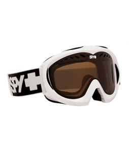 Spy Targa Mini Goggles White/Bronze Lens