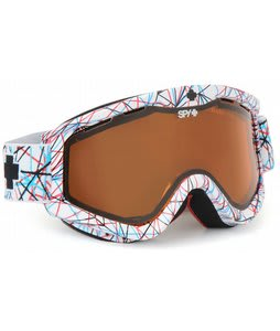 Spy Targa 3 Goggles Snow Nervous/Persimmon Lens