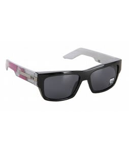 Spy Tice Sunglasses Black Silver Feathers/Grey Lens
