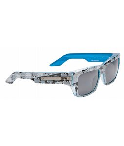 Spy Tice Sunglasses Grey w/ White Crosses/Grey Black Mirror Lens