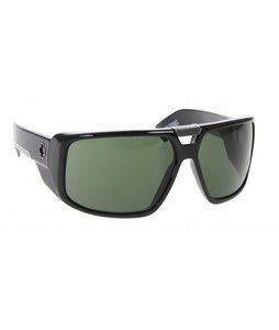 Spy Touring Sunglasses Black Shiny/Grey Green Lens