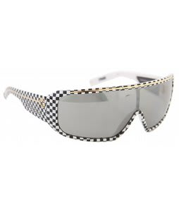 Spy Tron Sunglasses Checkers/Grey W/Silver Gradient Lens
