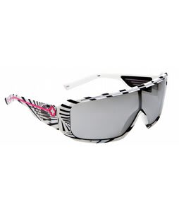 Spy Tron Sunglasses White 80's/Grey Silver Mirror Lens