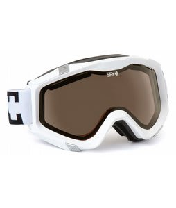 Spy Zed Goggles White/Bronze Lens