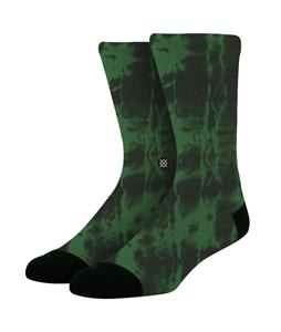 Stance Burnout Socks Green