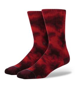 Stance Burnout Socks Wine
