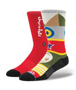 Stance Chocolate Flags Socks Red