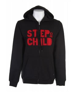 Stepchild Block Applique Hoodie Black