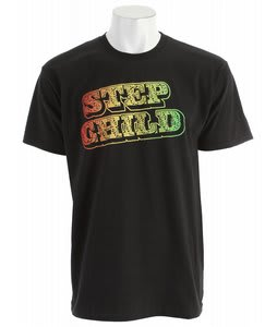 Stepchild Jah P T-Shirt Black