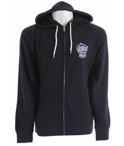 Stepchild Latchkey Fleece Zip Hoodie Navy