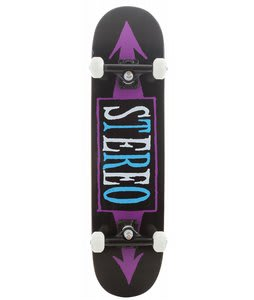 Stereo Arrows Skateboard Complete Black/Purple