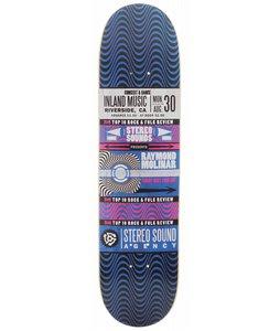 Stereo Moliner Handbill Skateboard Deck Black/Blue