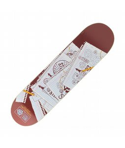 Stereo Peterson Spiral Skateboard Deck Brown