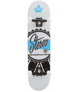 Stereo Ribbon Skateboard Complete White