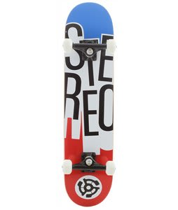 Stereo Stacked Skateboard Complete Red/White/Blue
