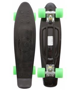 Stereo Vinyl Cruiser Skateboard Complete Black/Solid Green