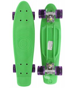 Stereo Vinyl Cruiser Skateboard Complete Green/Translucent Purple