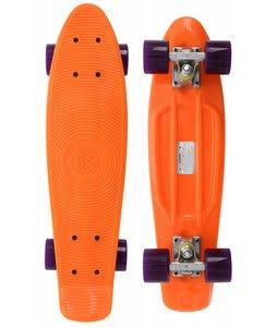 Stereo Vinyl Cruiser Skateboard Complete Orange/Translucent Purple