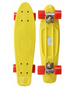 Stereo Vinyl Cruiser Skateboard Complete Yellow/Solid Red