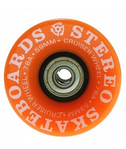 Stereo Vinyl Cruiser Skateboard Wheels 59mm Orange (4Pk)