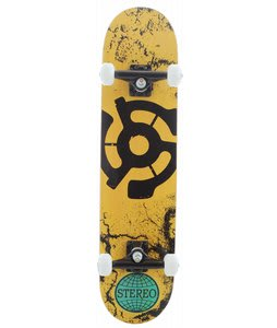 Stereo Walls 45 Skateboard Complete Yellow