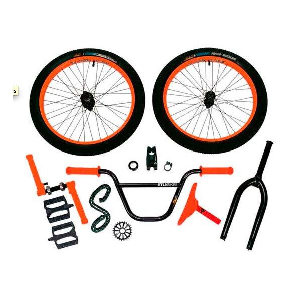 Stolen Cheater Bike Part Kit Neon Orange