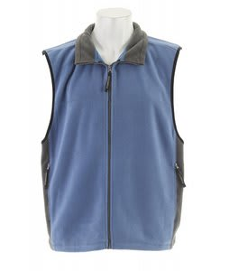 Stormtech Chinook Full Zip Fleece Vest Reverse Blue/Smoke