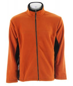 Stormtech Chinook Full Zip Fleece Shell Jacket Harvest Pumpkin/Black