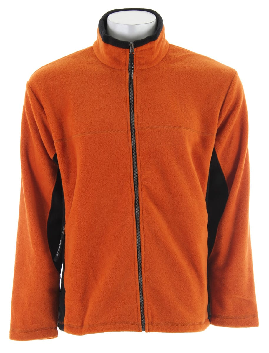 Shop for Stormtech Chinook Full Zip Fleece Shell Jacket Harvest Pumpkin/Black - Men's